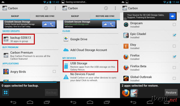 Carbon Android Restore
