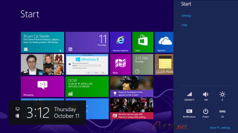 Start Screen More PC Settings