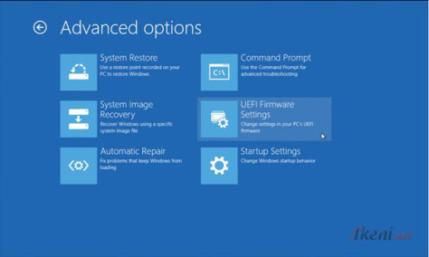 Windows 8 Advanced options