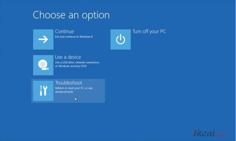 Windows 8 Choose an option