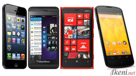 OS versus IOS 7, Blackberry 10, WP8, Android 4.2