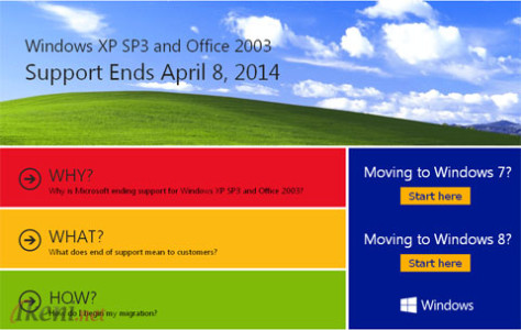End Support in 2014 Windows XP and Office 2003