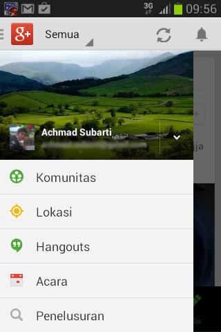 Google+ Menu