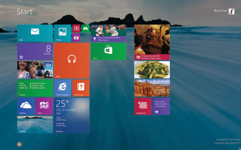 Windows 8.1 Start Screen Desktop Background