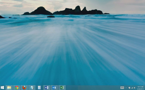 Windows 8.1 Desktop With Start Button