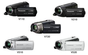 Panasonic HC-V720, HC-V520, HC-V510, HC-V210, HC-V110