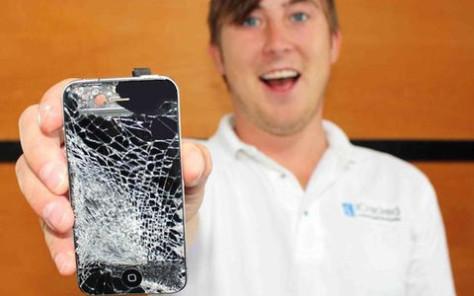 gambar iphone rusak
