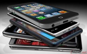 Smartphone Bertumpuk