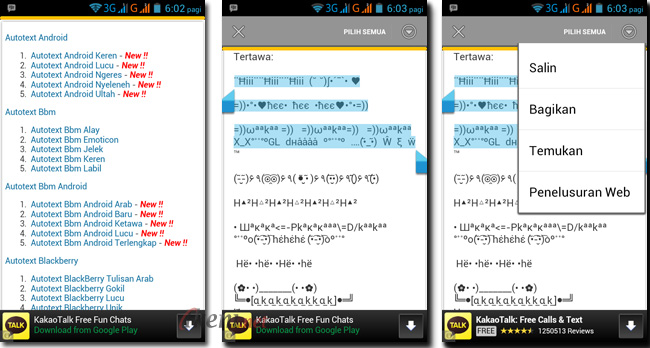 Aplikasi Autotext Android Untuk Bbm Wechat Whatsapp Line 1205