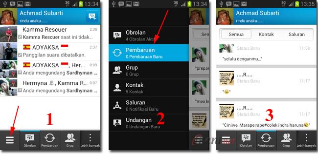 BBM Pembaruan Status Teman