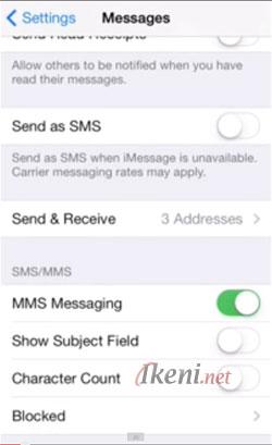 Blokir Panggilan SMS di iOS-7 2