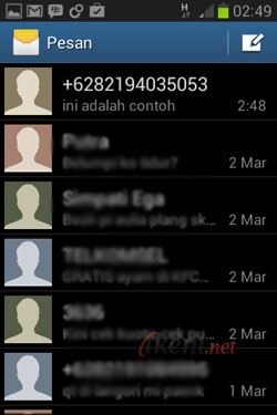 Blokir SMS di Android 1