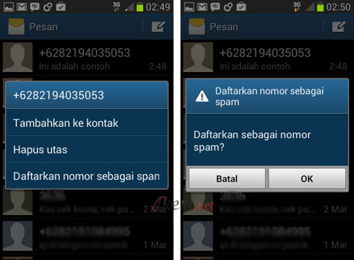 Blokir SMS di Android 2