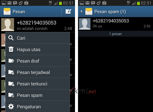 Blokir SMS di Android 3