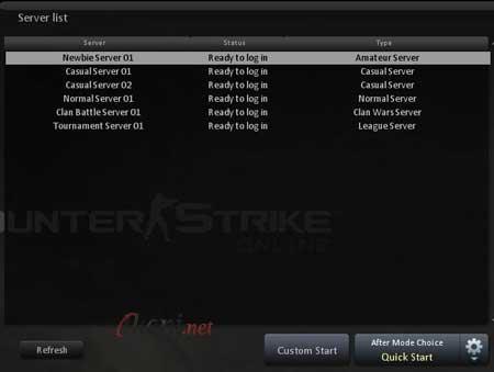 CSO Server List