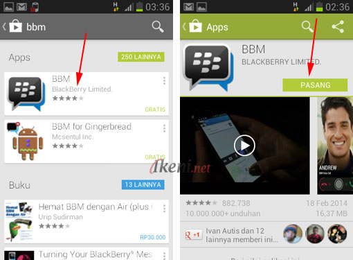 Download Install BBM Android