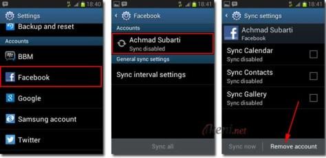 Hapus Akun Facebook di Android