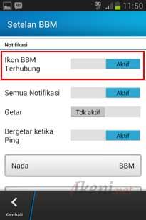 Icon BBM di statusbar Android