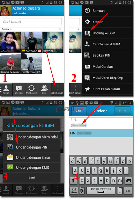 Invite PIN BBM Android iPhone