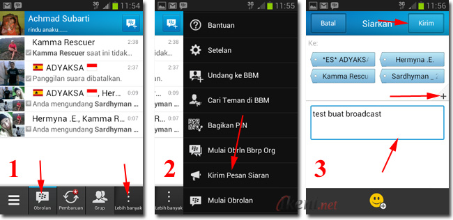 Kirim Broadcast BBM