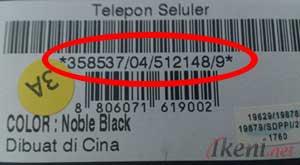 Kode IMEI Handphone