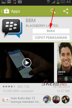 Open Install BBM Android