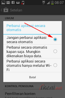 Setting Auto Update Android