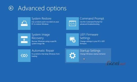 Windows 8.1 Startup Settings