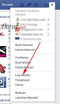 Log Aktivitas Facebook 1