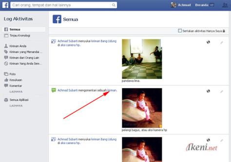 Log Aktivitas Facebook 2