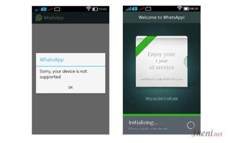 Cara Install WhatsApp di Nokia X