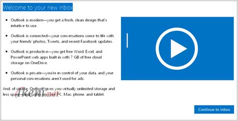 Outlook.com Akun Microsoft
