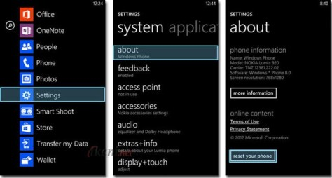 Cara Reset Windows Phone 8