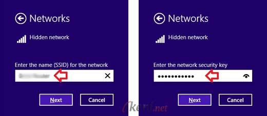 Hidden Networ Windows 8 SSID