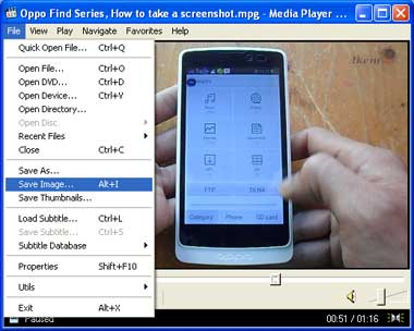 Media Player Classic Save Image