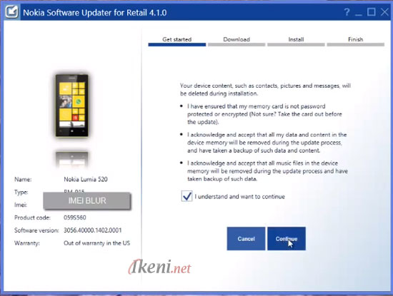 Lumia 520 untuk file firmware Windows Phone 8.1 with Lumia Cyan