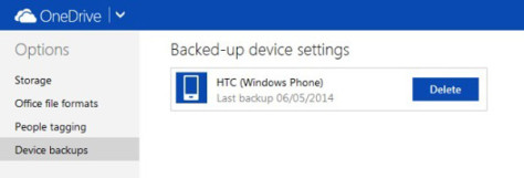 OneDrive Data Backup Windows Phone