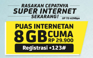 super Internet im3 8GB