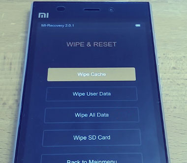 MI Recovery Wipe and Reset