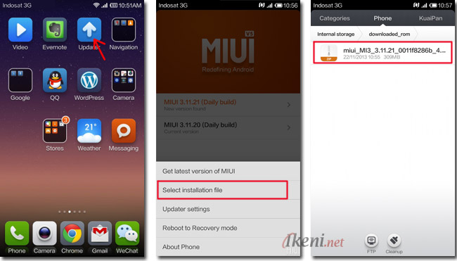 Cara Upgrade Manual Miui Rom Di Xiaomi Ikeni Net
