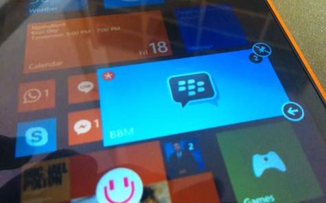Live Tile Notification BBM Windows Phone