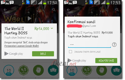 Cara Beli Aplikasi Android Potong Pulsa
