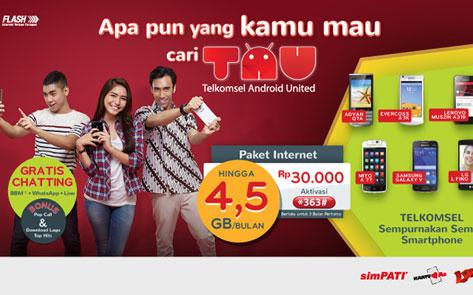 TAU: Paket Internet Untuk Android