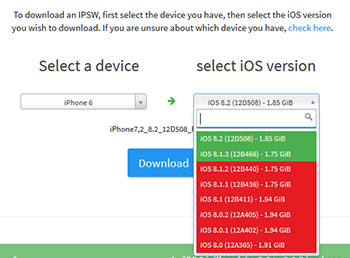 Download ipsw iOS iPhone
