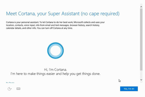 Konfigurasi Cortana di Instalasi Windows 10