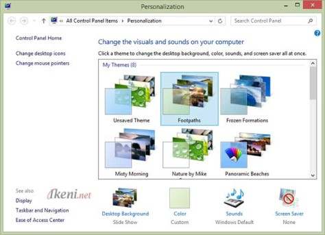 Personalization Theme Windows 8