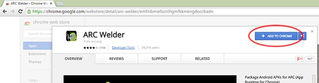 extension ARC Welder untuk Google Chrome