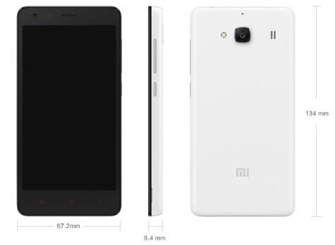 Dimensi Xiaomi Redmi 2