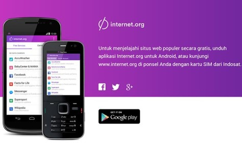 Facebook dan Internet Gratsi Menggunakan Internet.org