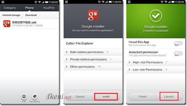 Install Google Installer di Smartphone Xiaomi